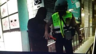 中興郵局防搶演練引意外,警方急抵處理。(中興分局提供)