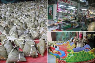 羅東公有市場促銷活動,準備2千粒肉粽大放送。(圖/記者陳木隆攝)