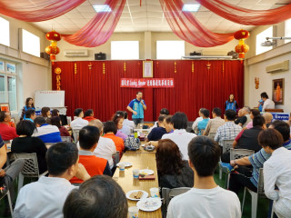 期盼揮出 Lucky Seven 逆轉勝,立法委員吳志揚舉辦桃市20全新科黨代表座談會。