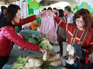 桃園假日農創市集有在地農民優良農產品,歡迎市民朋友吃吃玩玩逛逛。