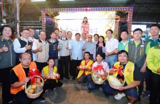 桃園市長鄭文燦前往桃園果菜市場,出席「粽愛桃園.端午傳情」端午節社會服務公益活動。