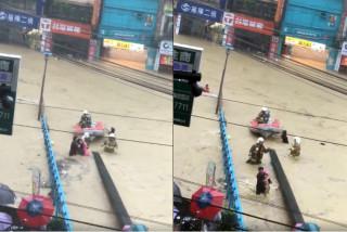 基隆候車6人被沖走,警消緊急救出溺水女童送醫(圖/翻攝網路)