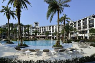 圖:大溪笠復威斯汀度假酒店,為回饋地方,自即日起歡慶開幕週年,特別推出「Summer 夏日樂活假期」專案。(記者陳寶印攝)