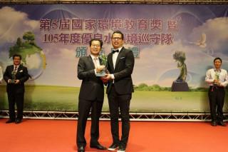 歐萊德公司代表桃園市 勇奪國家環教獎(民營事業組)特優獎 。
