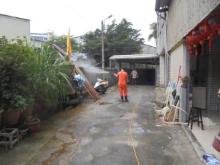 清潔消毒(圖/基隆市政府環保局提供)