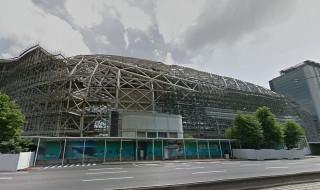 台北市環保局19日表示,遠雄公司如要申請大巨蛋復工,因部分項目內容與原通過環評不同,必須依據環境影響評估法規定辦理變更。(圖/Google Map)