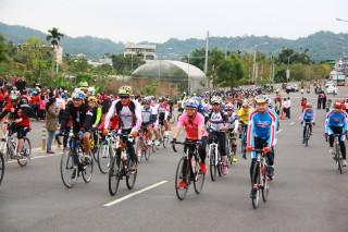 南投市長宋懷琳歡迎大家報名參加139自行車賽。(記者扶小萍資料照片)