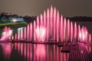 結束漫長枯水期,6/24(六)晚間7點30分蘭潭風景區音樂噴泉恢復演出