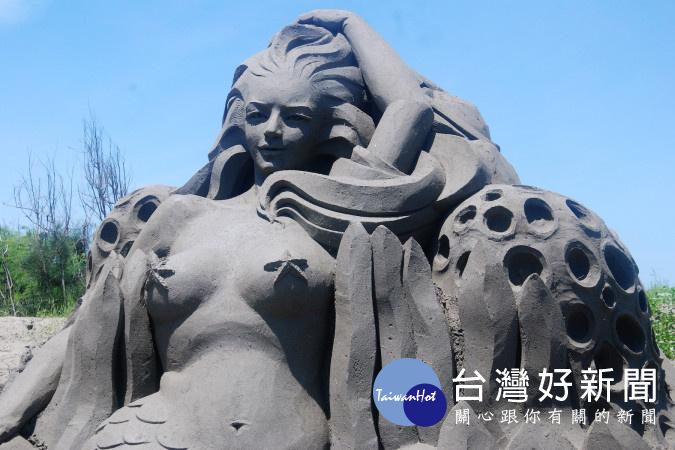 罕見沙雕藝術即將在台南展出。(圖/記者黃芳祿攝)