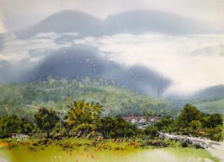 黃芳謙老師展出之作品-縹渺神仙雲霧窗。