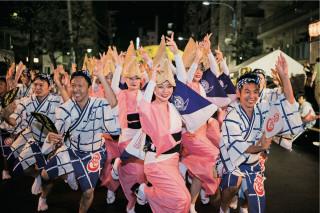 「東京高圓寺阿波舞」祭典。