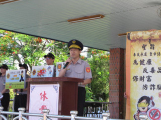 霧峰副分局長楊明哲到明台宣導。林重鎣攝