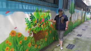 1060705安和里後巷彩繪 彷彿置身綠野家園