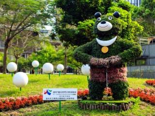 世大運吉祥物「熊讚」代表台北,在大街小巷迎接2017世大運各國選手及觀光客。(圖/台北市政府提供)