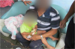 圖:大溪警方尋兒童,所幸安全無恙。(記者陳寶印攝)