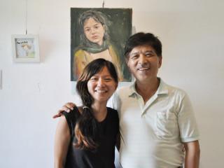「阿郎與安安,作伙展」,展出藝術家柯德郎與柯姿安父女檔聯展。(圖/記者黃村杉攝)