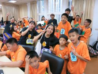 桃園市政府社會局舉辦「愛心天使夏令營」開幕儀式,為弱勢兒童辦理暑假宿營活動拉開序幕。