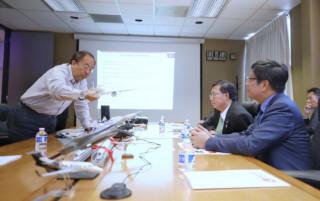 桃園市長鄭文燦率市府團隊,在加州矽谷參訪Acellent Technologies。