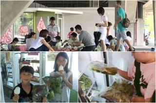 「粮心換換菜」市集活動。(圖/蘭陽農業發展基金會提供)