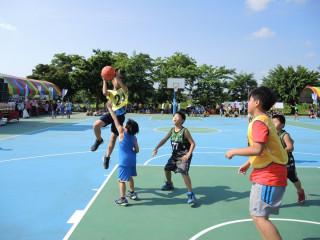田中鎮長盃籃球錦標 近百隊豔陽下熱力開打