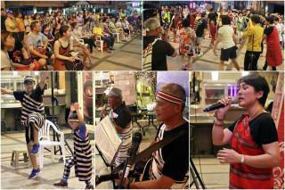 礁溪街頭音樂會也有原民風。(圖/記者陳木隆攝)