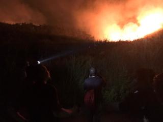 婦女急於脫困放火燒山 搜救人員搶救護送下山
