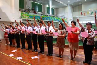 106學年度第一學期新任校長宣誓。(記者扶小萍攝)