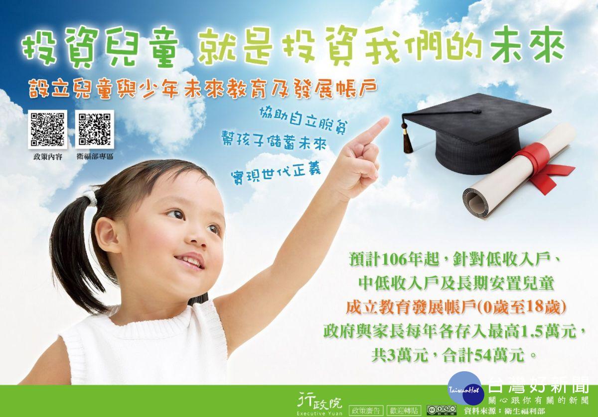 兒少未來教育發展帳戶 雲縣102位兒童符合資格