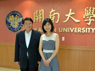 澳洲拉籌伯大學La Trobe University商學院訪問學者Professor Mei-Tai Chu拜訪梁校長