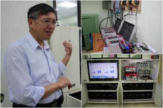 宜蘭大學研發團隊,成功研發雲端綠能智慧微電網。(圖/記者陳木隆攝)