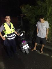 男子施用毒品交通違規引注意,遭認真警查獲