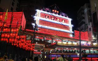 基隆老大公廟「起燈腳」 雞籠中元祭揭幕(圖/基隆市整府提供)