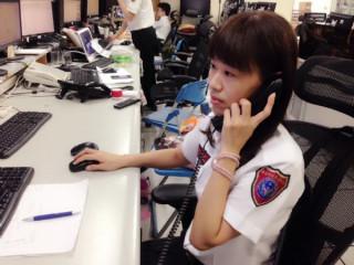 119執勤員陳芷耘挽救民眾生命。