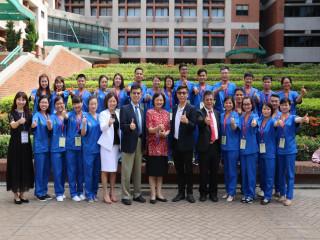 弘光科技大學辦理「106學年度新南向越南清閑醫院中高階專業技術  人才短期訓練班」25日開訓,進行一個月課程的短期訓練,期盼學員  把台灣的最新醫療技術與經驗帶回越南,促進雙方教育合作交流。( 記者陳榮昌攝)