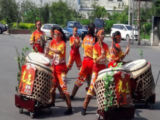 光正國小戰鼓隊將到美國演出。林重鎣攝
