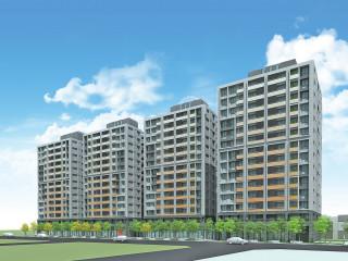 桃園市政府所推動興建的社會住宅透視模擬圖。