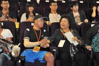 市長陳菊重申,石化氣爆的傷害會永遠印記在心,政府存在的目的與價值,就是保障人民的身家安全。(圖/記者何沛霖攝)