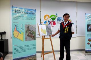 林明溱縣長強調觀光產業再與福興溫泉區結合前景可期。(記者扶小萍攝)