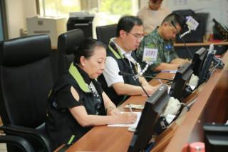 嚴防「尼莎」颱風侵襲 嘉義縣災害應變中心進行第一次工作會報