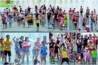 宜蘭童玩節推出水中有氧課。(圖/記者陳木隆攝)