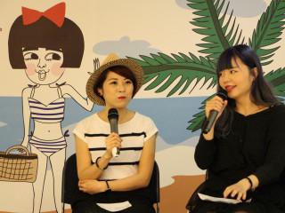 網紅插畫家「超直白」與「賤女奈奈」聯展。