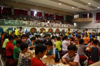 南投縣棋藝文化協會舉辦全國圍棋賽參加踴躍。(記者扶小萍攝)