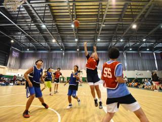 2017第三屆桃園盃全國三對三籃球賽」,獲得決賽權的選手們在開南大學籃球場上展開最後的決戰。