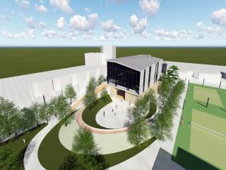 新坡多功能場館新建統包工程  待規劃設計完成將儘速動工(完工示意圖)