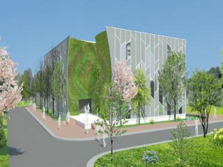 桃園農業博覽會-綠色方舟展覽館外觀設計示意圖。