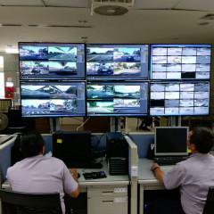 桃園市政府警察局執行團體賽前導車任務及場館周邊交通疏導工作,特成立交通監控中心。