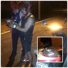 警方盤查徐男發現手電筒重量不一樣,打開發現裡面藏著一包安非他。