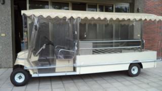 殯葬服務再創新,嘉義市殯葬管理所採購電動運棺車服務往生者莊嚴走完人生的最後一程。