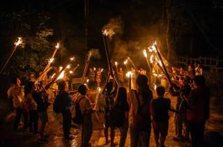 4.夜遊茶山部落體驗正大光明的玩火