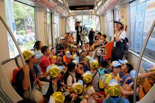 高捷公司為於2010年起開辦捷運好子夏令營,設計一系列捷運沿線課程。(圖/記者許凱涵攝)